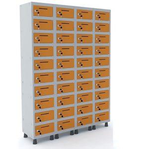 Caixa postal de aço com 40 portas