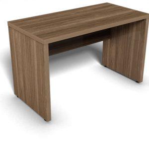 Mesa reta de 37 mm com pés painéis e fita